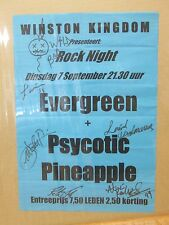 Vintage Rock Night Evergreen Psychic Pineapple ad flyer SIGNED poster 11228