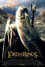 LORD OF THE RINGS TWO TOWERS DOUBLE SIDED ADVANCE UV COAT ORIGINAL MOVIE POSTER