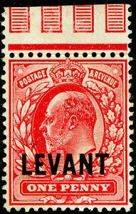 BRITISH LEVANT SG L2, 1d scarlet, VLH MINT.
