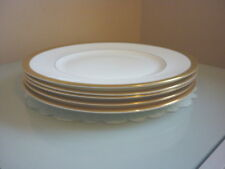 FIVE ROYAL DOULTON ROYAL GOLD DINNER PLATES - 27CMS