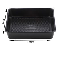 UNIVERSAL Carbon Steel Oven Tray Non Stick Deep Baking Roasting Tin 34cm x 24cm