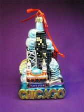 """CHICAGO - KURT S ADLER CHICAGO CITY SCAPES 5"""" GLASS ORNAMENT NEW IN BOX C-7534"""