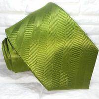 Necktie solid green Tie NEW 100% silk  Made in Italy Morgana brand men's ties