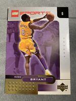 Kobe Bryant Lakers LEGO SPORTS 2002 Upper Deck NBA Basketball CardGOLD RARE