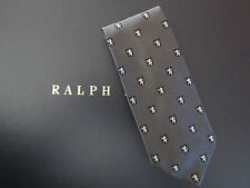 NEW RALPH LAUREN POLO Regal Lion Crest Silk Tie Made in Italy