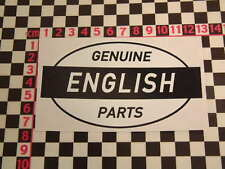 Ed Roth Style English Parts Sticker - MG Jaguar Austin Morris Riley Mini Cooper