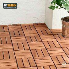 10 Pack Garden Wooden Deck Decking Tiles Interlocking Wood Balcony Patio Floor