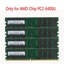 16GB 4x 4GB PC2-6400U DDR2 800MHz 240PIN  DIMM Desktop Memory AMD for Samsung @E