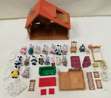 Large Job Lot Of Sylvanian Families Includes House Furniture And 18 Figures #959