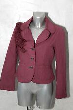 jolie petite veste coat été coton rose fuschia IKKS taille 40
