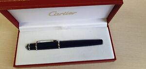 CARTIER DIABOLO FOUNTAIN PEN BLUE CABOCHON