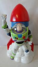 Walt Disney 1997 Toy Story Buzz Lightyear Rocket Ship Cookie Jar #G860