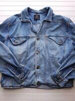 Robert Comstock Men's Denim Button Up Coat/Jacket Size Large HU