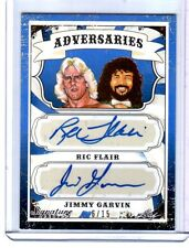 Ric Flair & Jimmy Garvin 2016 Leaf Wrestling BLUE Dual Autograph Card SN 6 of 15
