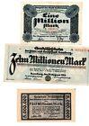 Reichsbanknoten 3 Scheine. Los 1591. schoeniger-notgeld
