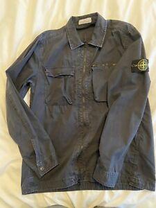 Stone Island Navy Overshirt xl 2 Pocket