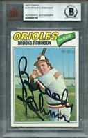 1977 topps #285 BROOKS ROBINSON baltimore orioles autograph BGS AUTHENTIC
