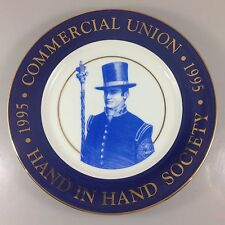 Tiffany Commercial Union Hand in Hand Society Plate 1995 Commemorative