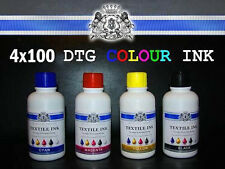 4 Colori 100ml DTG VIPERA Tessile Inchiostro Tutto Direct To Indumento Stampanti