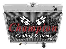 1967-1970 3 Row Ford Mustang Aluminum 3 Row KR Champion Radiator Fan Combo