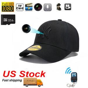 32GB HD 1080P Hat Cap portable Built-in battery mini micro camera Video Recorder