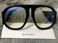✔️ Gucci GG0152S BLACK Acetate Frame Women's Sunglasses 100%