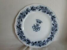 Assiette porcelaine Couronne comtale Brown Westhead & Moore hawthorn