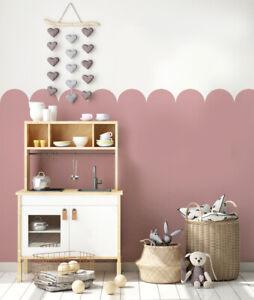 Scallop Nursery Wall STENCIL Paint Nursery Walls Reusable Home Decor Stencil
