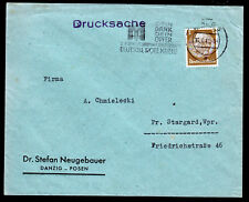 DR 513, Drucksachen-Brief Danzig 11.8.41,Stpl. Deutsches Rotes Kreuz,Wolff 15.0