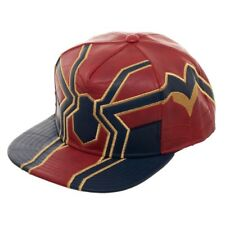 Iron Spider-Man Suit Up Faux Leather Snapback Hat Avengers Infinity War Movie