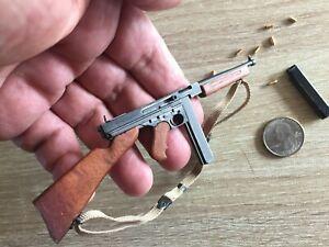MINIATURE 1/6 SCALE METAL & WOOD US THOMPSON SMG SUB MACHINE GUN TOMMY DID WWII