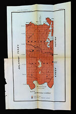 1903 Map of Seminole Nation Indian Reservations Schools Oklahoma Creek Nation