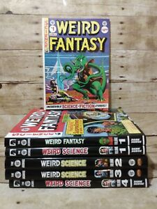 WEIRD SCIENCE & FANTASY (6 Issues) EC Hardcover Comic (Softcover '86) Book Lot