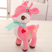 Pink Sika Spotted Deer Soft Plush Stuffed Animal Baby Kids Toys Dolls Gifts 12''