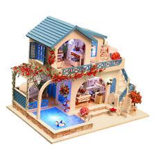 1:24 DIY Dollhouse Handcrafts Miniature Project Kit LED Light Birthday Gift
