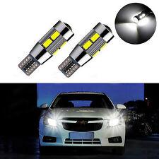 2Pcs T10 White 194 W5W 5630 LED 10 SMD CANBUS ERROR FREE Car Side Wedge Bulb YX