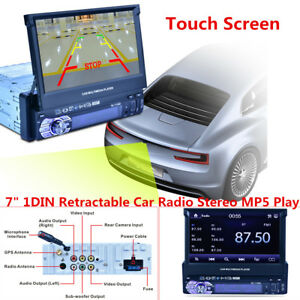 "HD 7"" 1 DIN Touch Screen Car Stereo Bluetooth MP5 Player Radio FM Navi USB GPS"