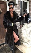 Fab designer Revillon New York Sable brown Mink fur coat jacket  Stroller S-M 8
