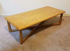 "Vtg Mid Century Modern Oak Lane Surfboard Coffee Table 52"" x 24"" Sculptural Long"