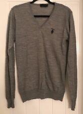 All Saints V Neck Sweater Merino Wool Grey