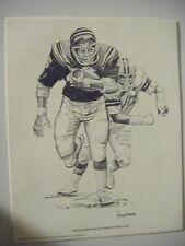 1981 Shell Oil Print 100 Lot Archie Griffin, 2 Time Heisman Trophy Winner