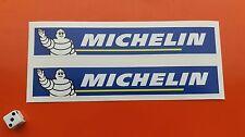 MICHELIN Auto Da Corsa Superbike Adesivi COPPIA 200mm x 35mm 7-10 ANNO IN VINILE
