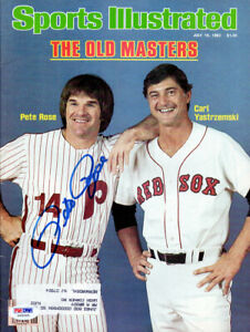 Pete Rose Autographed Signed Sports Illustrated Magazine Phillies PSA/DNA X65065