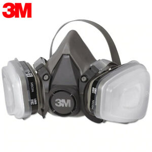 3M, 7 IN 1, 6200 Half Face Reusable Respirator For Spraying & Painting, MEDIUM