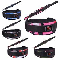 """2Fit™ Neoprene Weight Lifting Belt Back Support Gym Training Belts 5"""" Wide"""