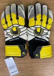 Uhlsport Eliminator Supersoft Bionik Goalkeeping Gloves Size UK 9 Mens