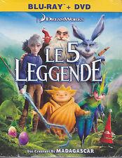 Blu-ray + Dvd DreamWorks **LE 5 LEGGENDE** nuovo slipcase 2012