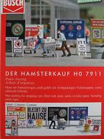 """Busch H0 7911 ACTION SET """"Der Hamsterkauf"""" mit Figur 1:87/H0 NEU/OVP"""