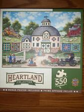 Masterpieces Heartland Collection THE QUILT BARN 550 piece jigsaw puzzle NEW