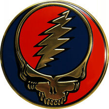 "15757 Grateful Dead 2"" Round METAL Steal Your Face Emblem Sticker SYF Heavy Duty"